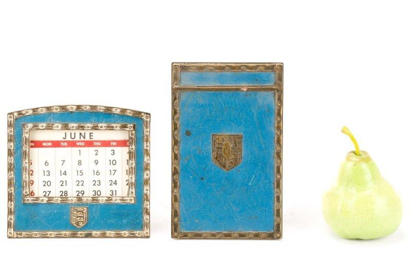 Tiffany Studios Heraldic Desk Calendar & Memo Pad - 9