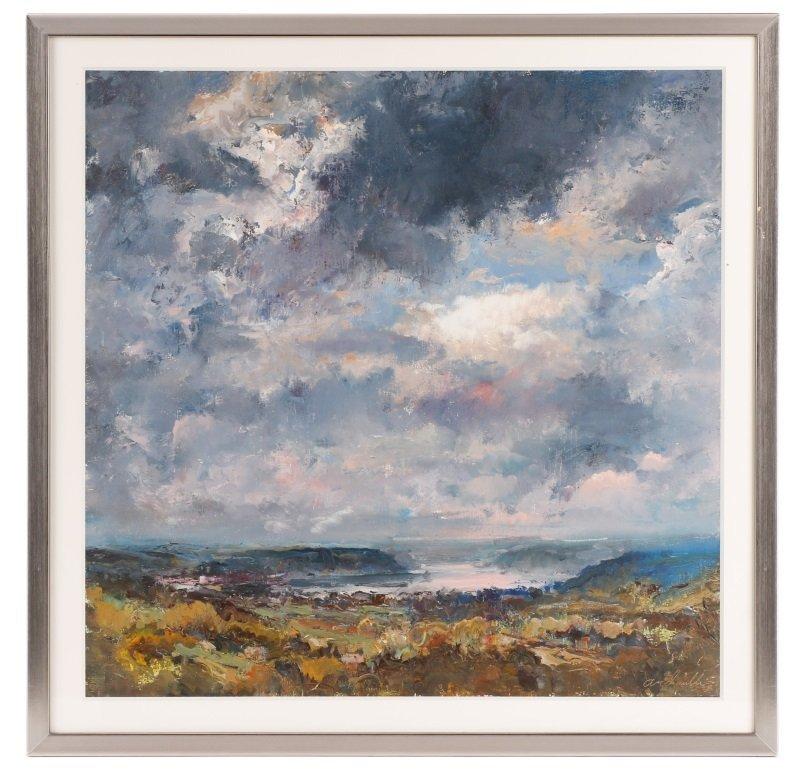 "Robert Andriulli ""Stormy Landscape II"" Oil"