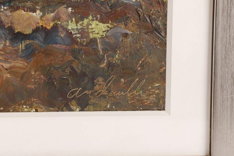 "Robert Andriulli ""Stormy Landscape II"" Oil - 2"
