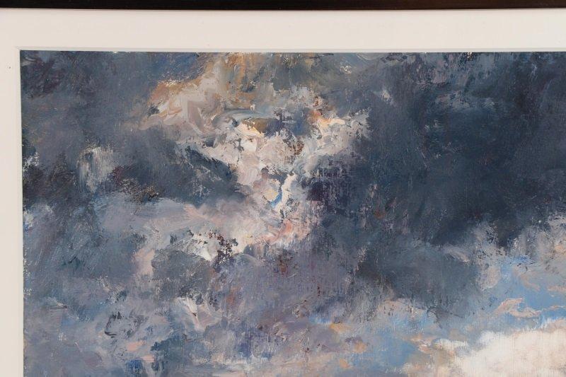 "Robert Andriulli ""Stormy Landscape II"" Oil - 3"