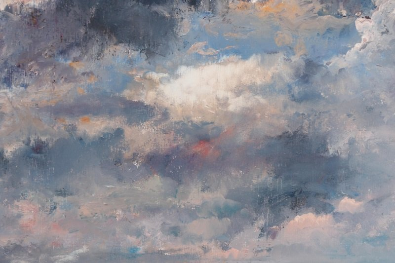 "Robert Andriulli ""Stormy Landscape II"" Oil - 4"