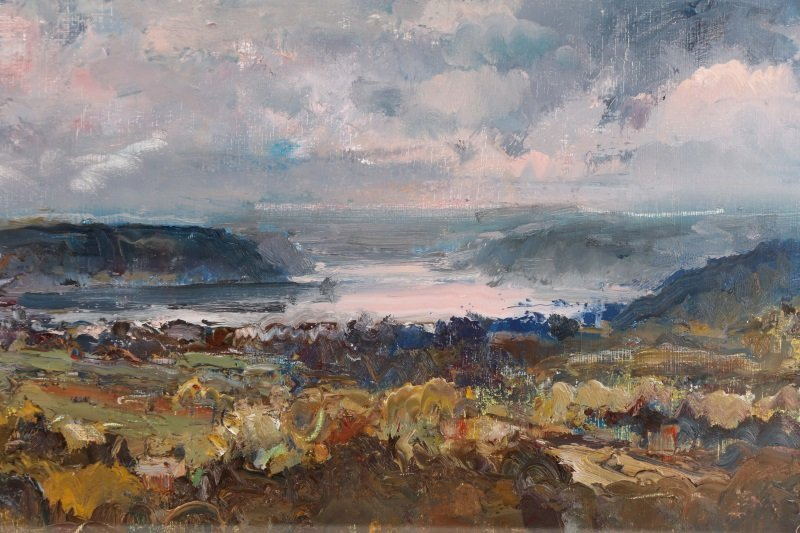 "Robert Andriulli ""Stormy Landscape II"" Oil - 5"