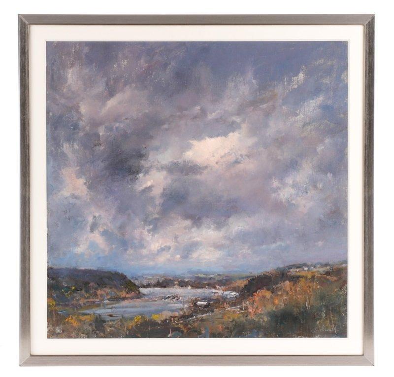 "Robert Andriulli ""Stormy Landscape I"" Oil"