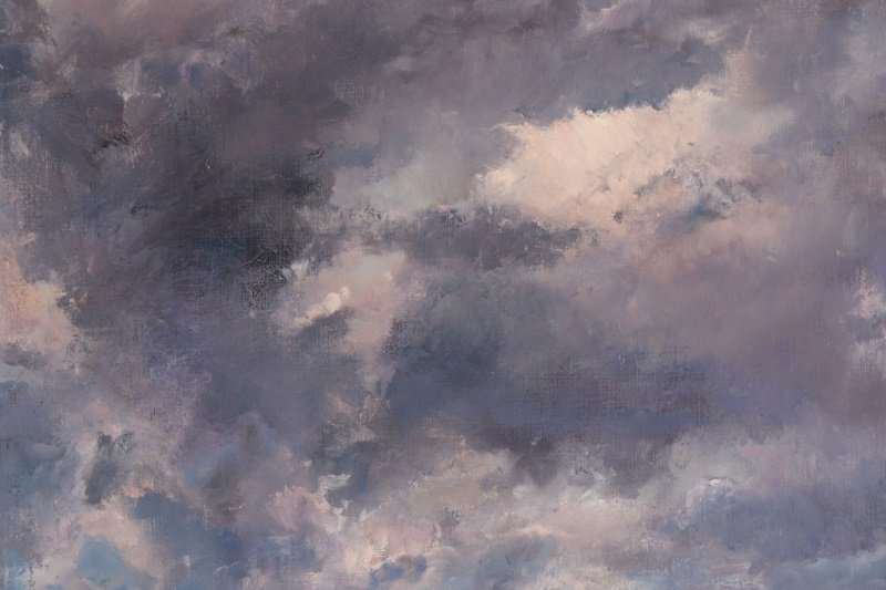 "Robert Andriulli ""Stormy Landscape I"" Oil - 3"