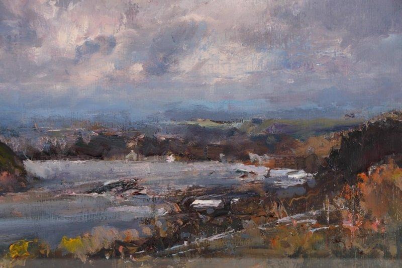 "Robert Andriulli ""Stormy Landscape I"" Oil - 4"