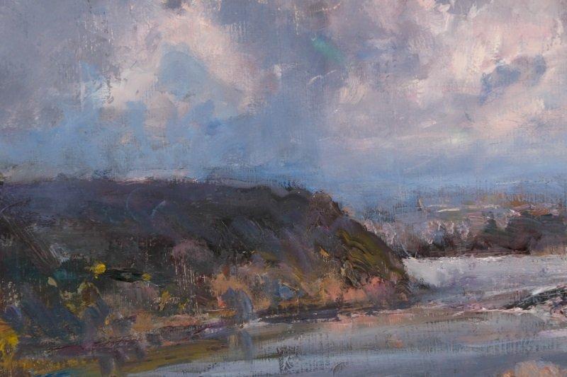 "Robert Andriulli ""Stormy Landscape I"" Oil - 5"