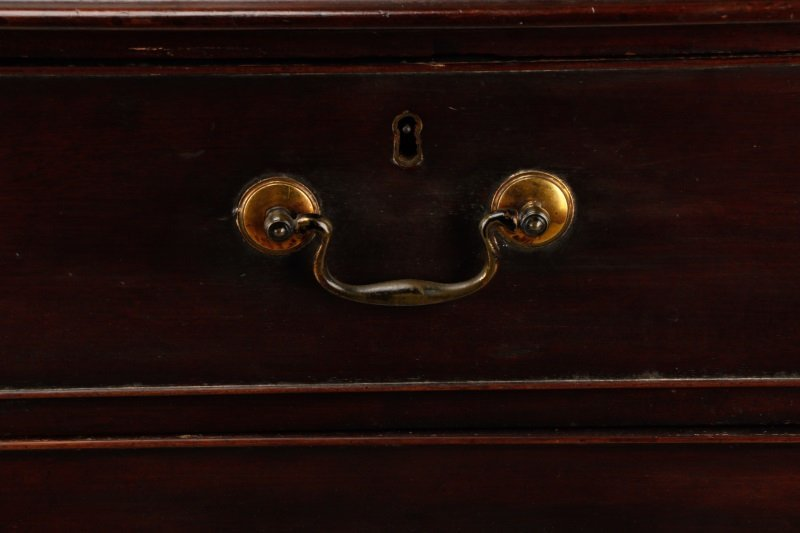 George III Mahogany Four Drawer Chest, E.19th C. - 2