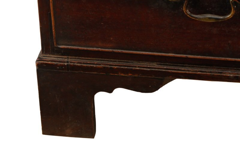 George III Mahogany Four Drawer Chest, E.19th C. - 3