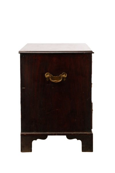 George III Mahogany Four Drawer Chest, E.19th C. - 5
