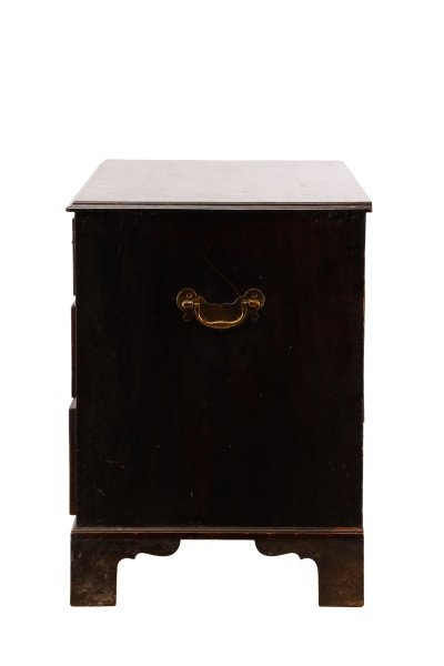 George III Mahogany Four Drawer Chest, E.19th C. - 7