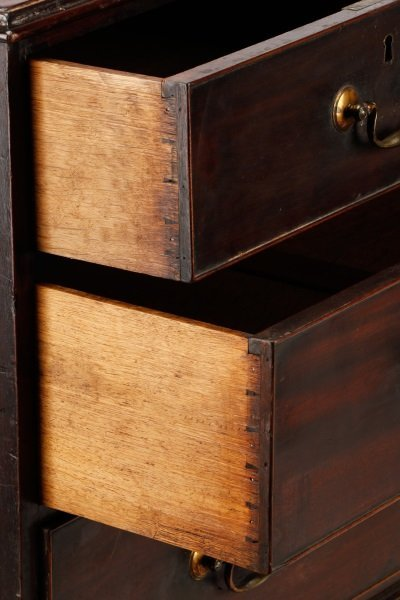 George III Mahogany Four Drawer Chest, E.19th C. - 9