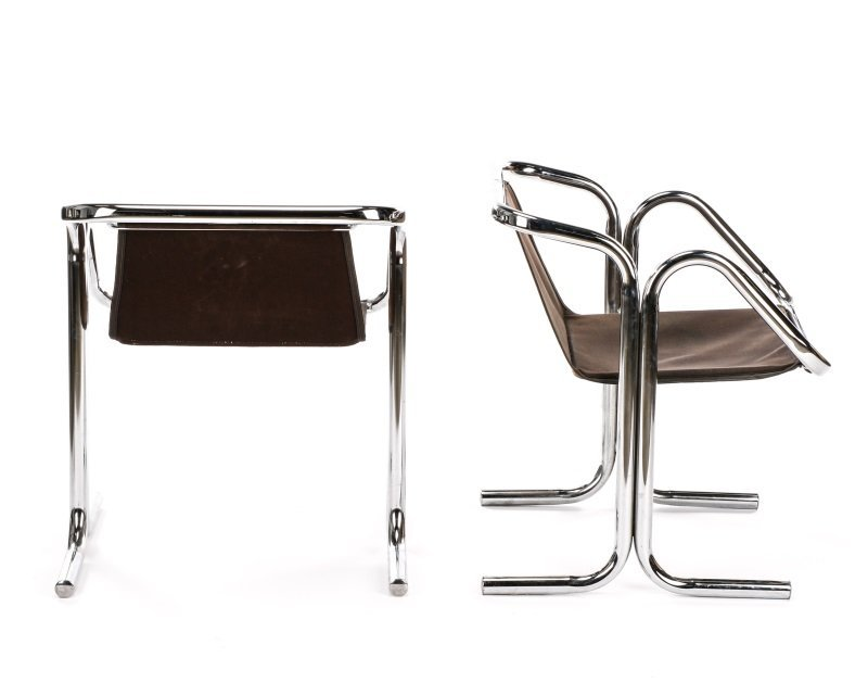 Pair of 'Arcadia' Chrome Chairs by Jerry Johnson - 7