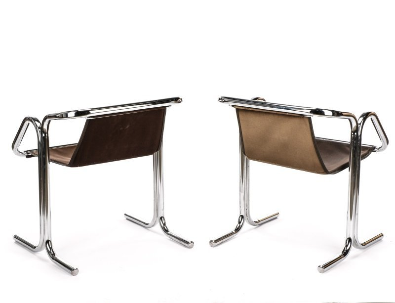 Pair of 'Arcadia' Chrome Chairs by Jerry Johnson - 8
