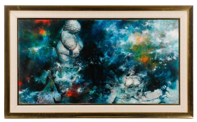 "Robert Hild, ""Her/Space"", Acrylic On Canvas"