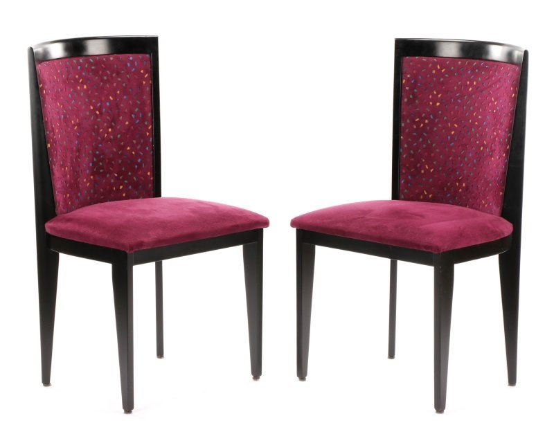 Pair of Contemporary Italian Side Chairs by Cabas