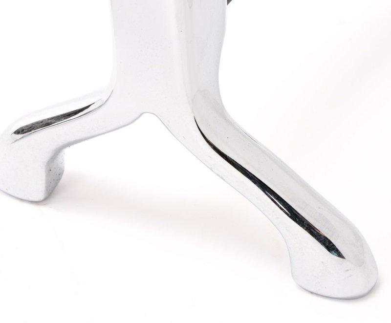 Polished Chrome Modern Figural Andirons - 4