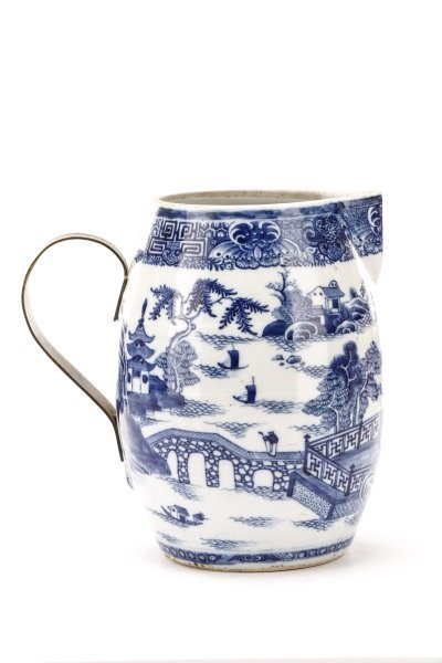 Fine Chinese Export Blue Willow Pitcher, c.1810