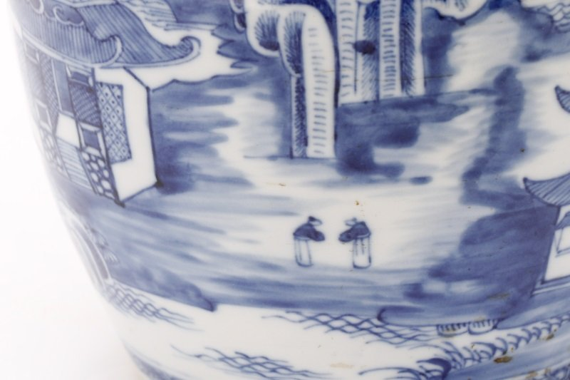 Fine Chinese Export Blue Willow Pitcher, c.1810 - 6