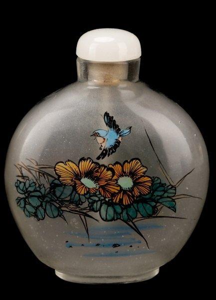 Three Reverse Painted Glass Snuff Bottles - 3