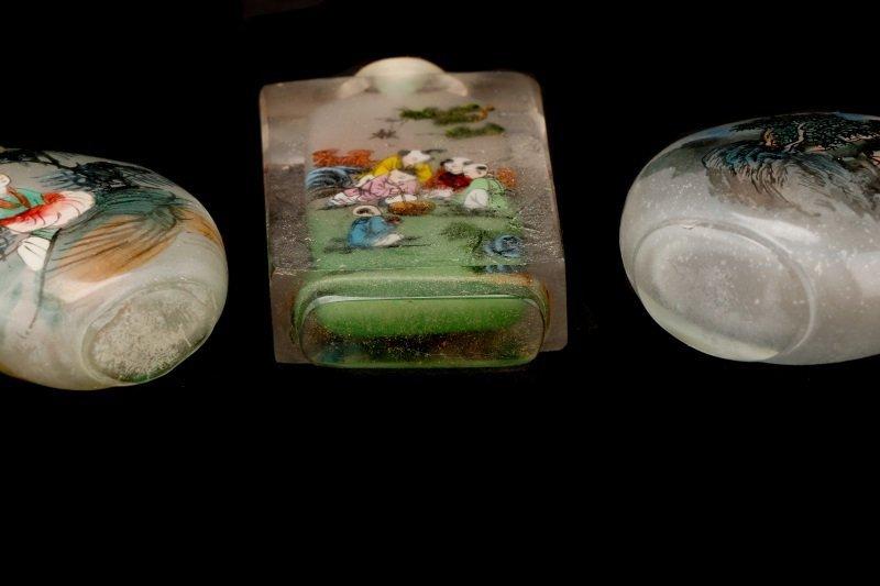 Three Reverse Painted Glass Snuff Bottles - 6