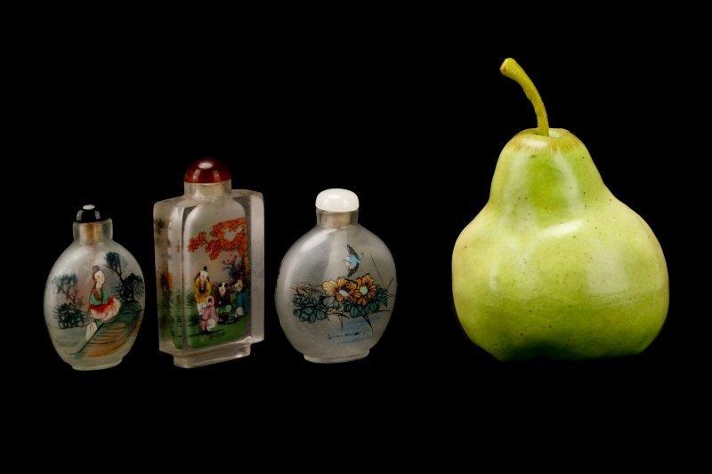 Three Reverse Painted Glass Snuff Bottles - 7