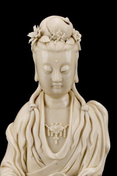 Fine Dehua Blanc de Chine Figure, Standing Guanyin - 2