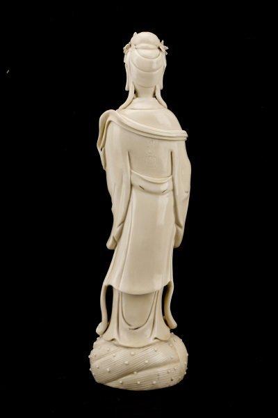 Fine Dehua Blanc de Chine Figure, Standing Guanyin - 6