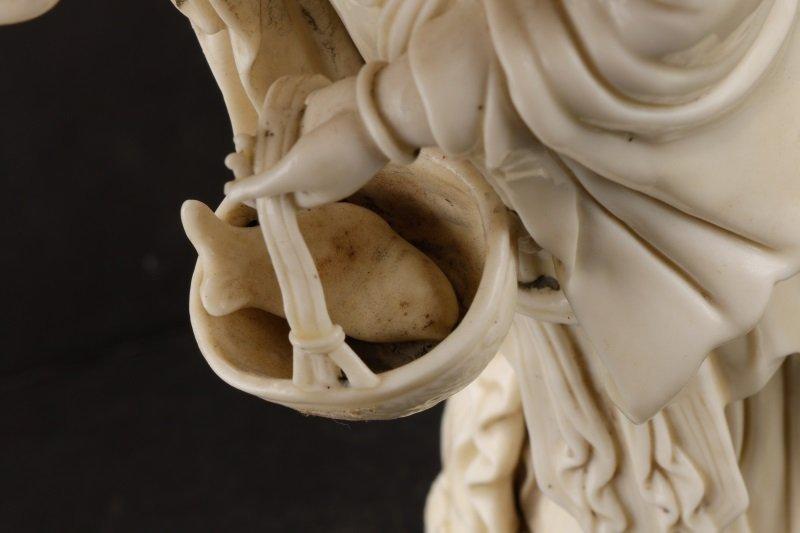 Fine Dehua Blanc de Chine Figure, Standing Guanyin - 9