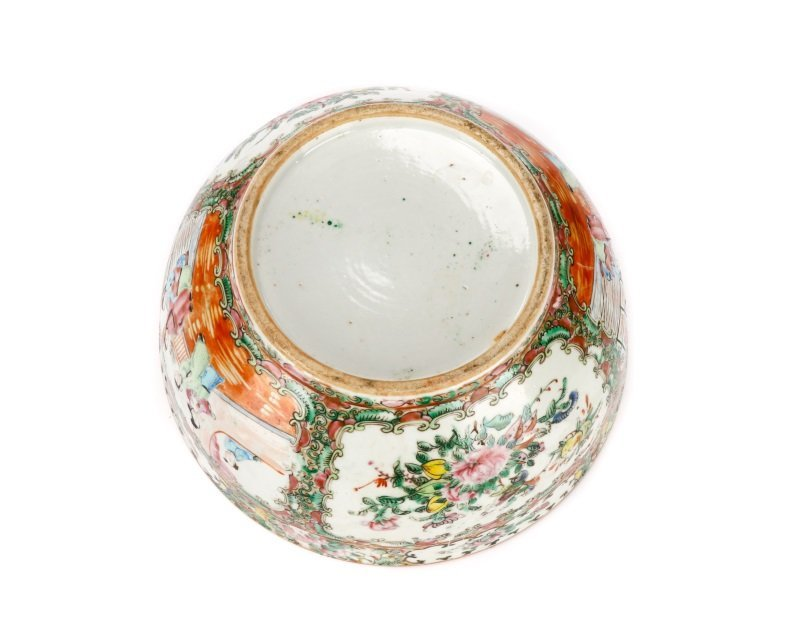 19th C. Chinese Export Rose Medallion Console Bowl - 4