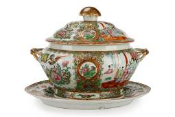 Rose Medallion Lidded Tureen with Underplate