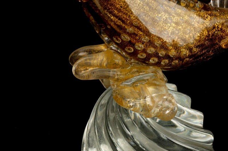 Pair, Murano Glass Pheasants, Attributed to Seguso - 10