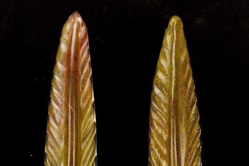 Pair, Murano Glass Pheasants, Attributed to Seguso - 8