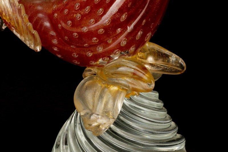 Pair, Murano Glass Pheasants, Attributed to Seguso - 9