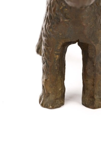 Pair of Hubley Style Cast Iron Airedale Terriers - 7