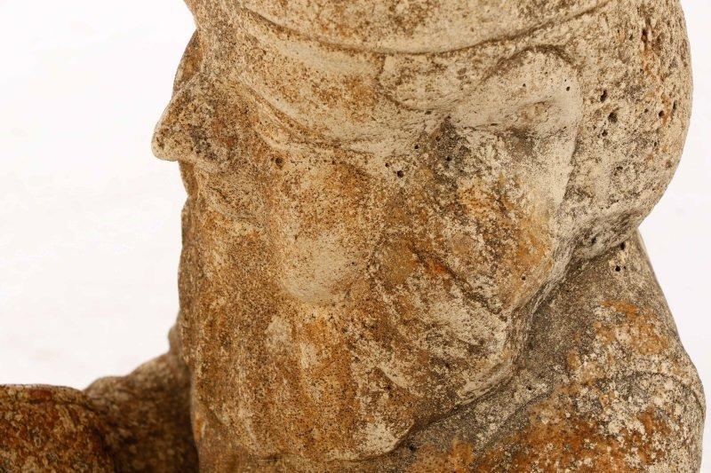 "Cast Stone Garden Sculpture, ""Reading Gnome"" - 8"