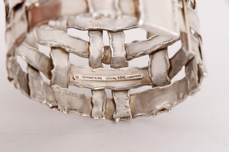 Cummings Style Woven Sterling Silver Bracelet - 2