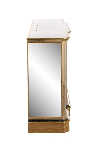 American Eglomise Mirrored Drinks Bar Cabinet - 3