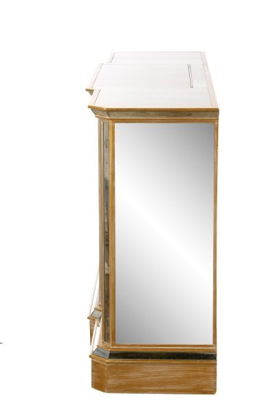 American Eglomise Mirrored Drinks Bar Cabinet - 5