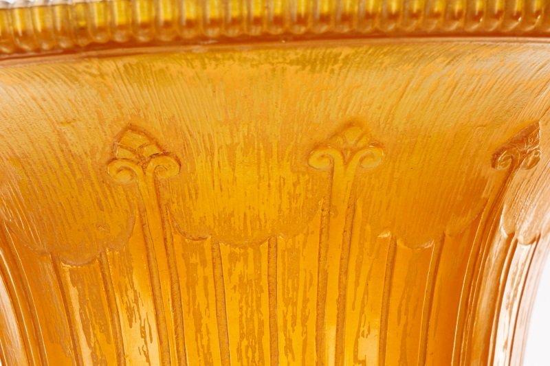 Art Deco Art Glass & Cast Iron Torchiere Lamp - 4