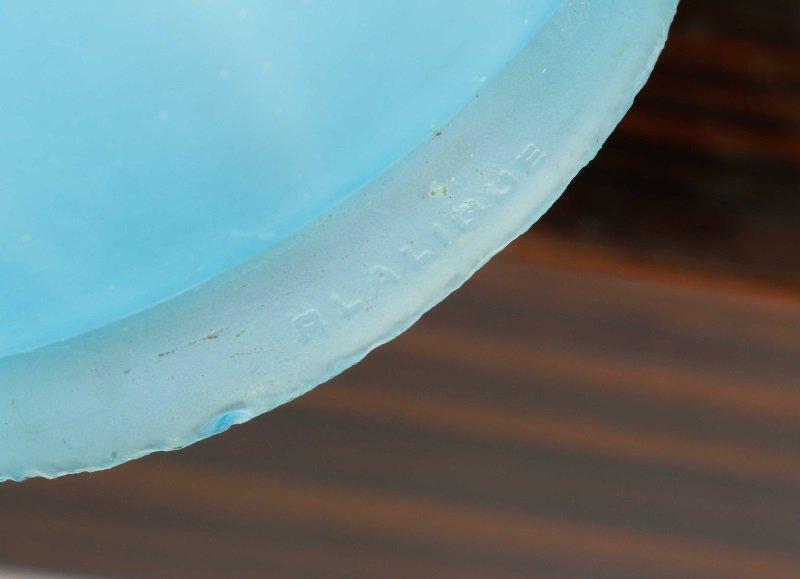 Art Deco Style Figural Glass Revolving Lamp - 5