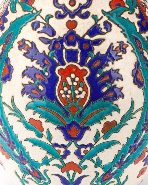 Boch Frères Glazed And Enameled Art Nouveau Vase - 2
