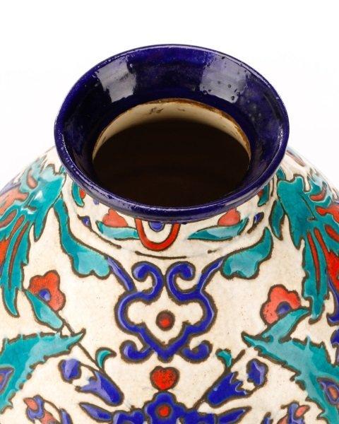 Boch Frères Glazed And Enameled Art Nouveau Vase - 3