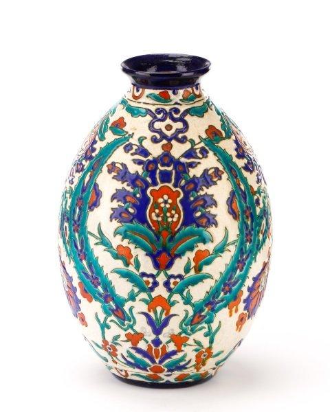 Boch Frères Glazed And Enameled Art Nouveau Vase - 5