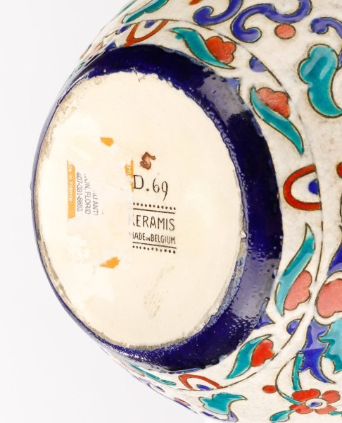Boch Frères Glazed And Enameled Art Nouveau Vase - 6