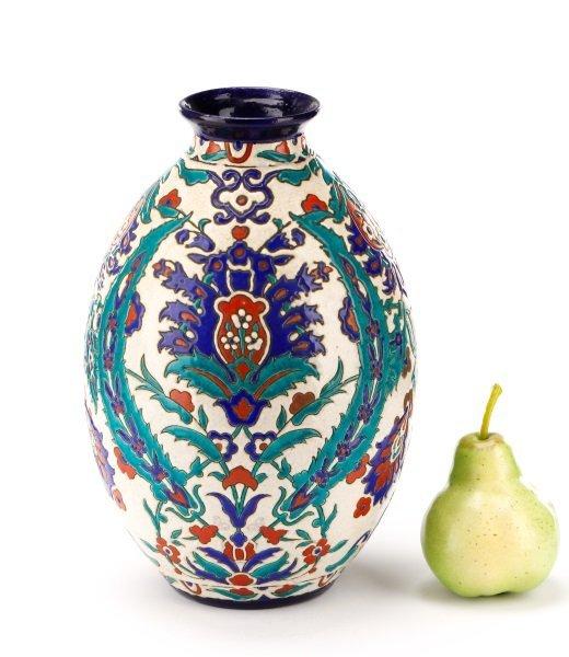 Boch Frères Glazed And Enameled Art Nouveau Vase - 7