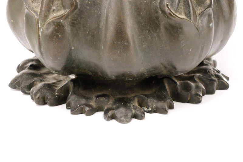Art Nouveau Bronze Figural Vase, Signed Peyre - 3