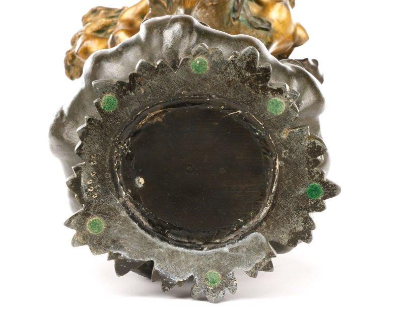Art Nouveau Bronze Figural Vase, Signed Peyre - 7