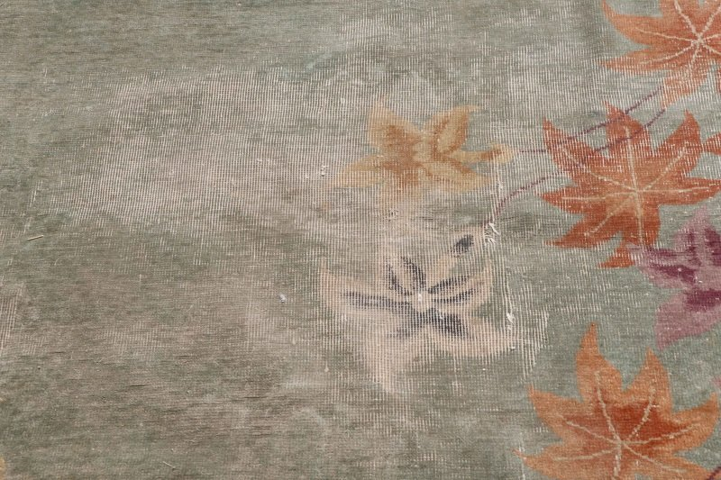 Hand Woven Chinese Art Deco Floral Motif Rug - 2