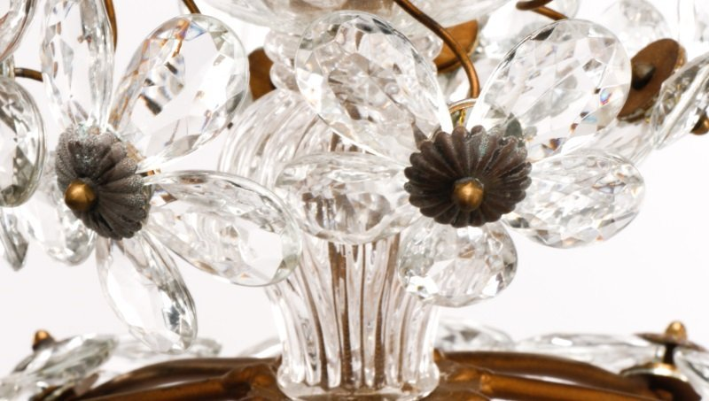 Pair of Bagues Style Crystal Ball Chandeliers - 4