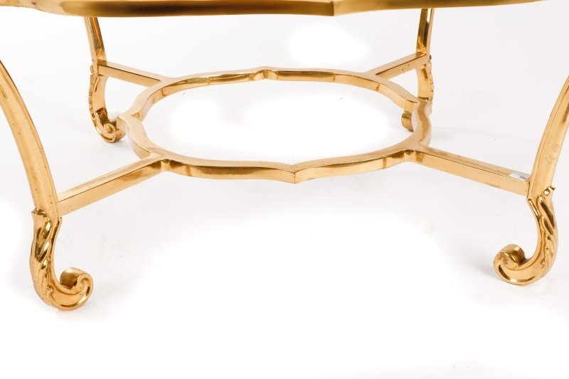 La Barge Brass & Glass Coffee Table, Model #8110 - 4